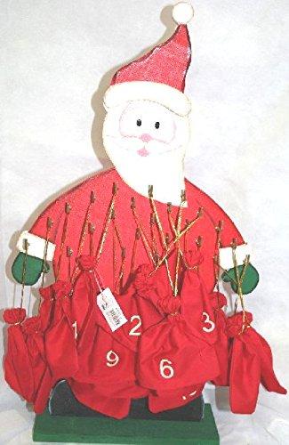 Calendario Dellavvento In Legno Con Sacchetti In Stoffa Numerati H