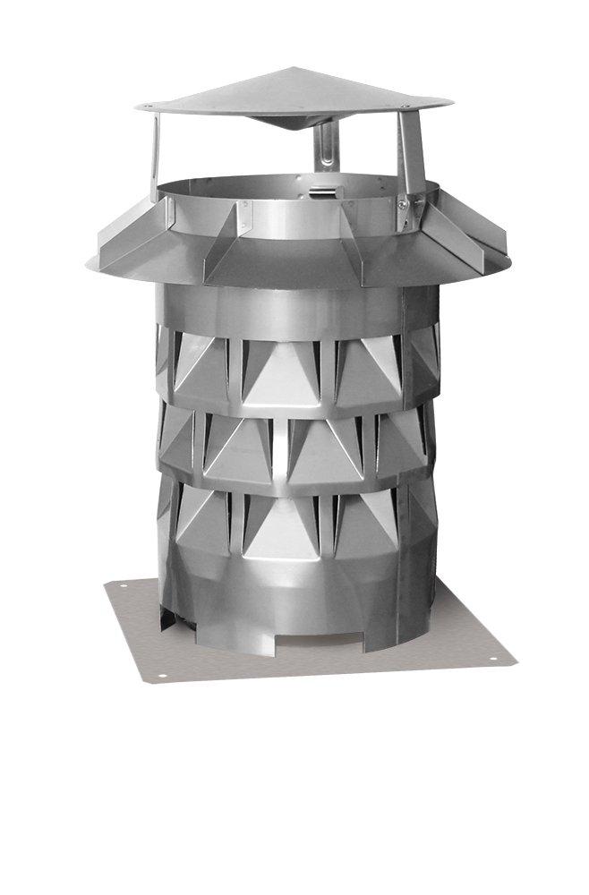 Ekon Schornsteinaufsatz Kaminabdeckung Regenhut mit Grundplatte in Edelstahl + Silikon Silikon Silikon GRATIS (Ø 130) 21917d
