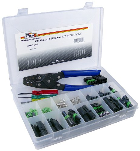 Pico 0003-OG1 160 Piece General Motors Weatherpack Electrical Terminal Kit w/Tools by Pico