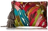Steve Madden Malibu Embroidered Colored Bohemian Geometric Fabric Pouch Crossbody, Multi