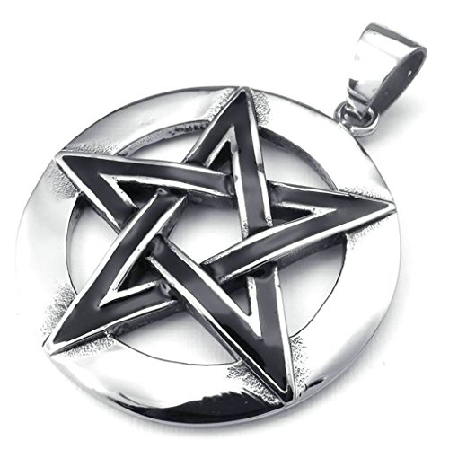 AmDxD Jewelry Vintage Necklace,Stainless Steel Pendant Necklaces for Men Star Shape 18 Inch