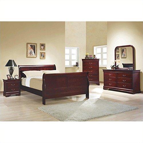 Coaster Home Furnishings 203972 Traditional Nightstand, Cherry - bedroomdesign.us