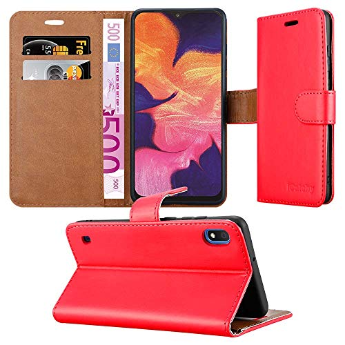 Case for Samsung Galaxy A10 Phone Case, Leather Magnetic Closure Flip Book Card Holder Wallet Stand View Protective…