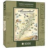 MasterPieces Xplorer Maps 1000 Puzzles Collection - Shenandoah Map 1000 Piece Jigsaw Puzzle