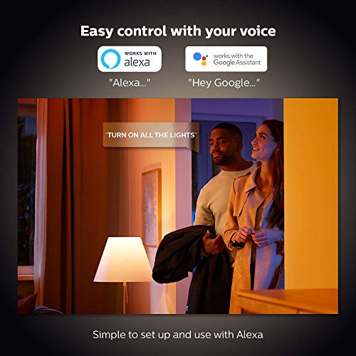 Philips Hue White and Color Ambiance 3-Pack A19 LED Smart Bulb, Bluetooth & Zigbee Compatible (Hue Hub Optional), Works with Alexa & Google Assistant – A Certified for Humans Device (562785)
