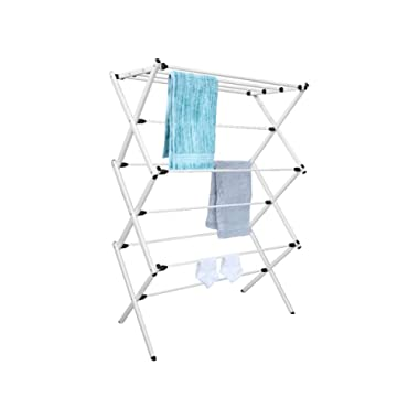 Tidy Living Foldable Drying Rack White - Laundry Storage Organizer Solution