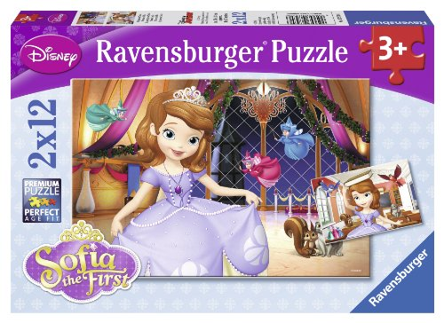 Ravensburger Sophia the First: Princess Sofia Puzzles in a Box (2 x 12 Piece) (Sophia First)