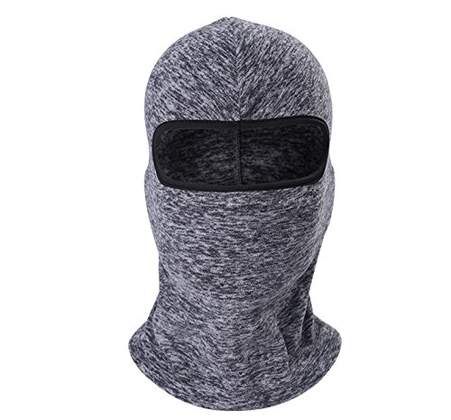 Besplore Fleece Balaclava Ski Mask Windproof Helmet Liner Warmer Thermal Riding Gear - grey (Recon Full Shield)