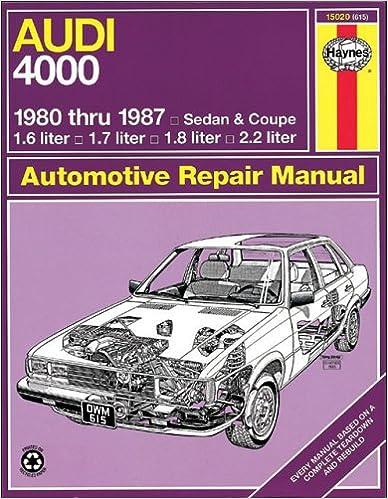 Book Audi 4000 '80'87 (Automotive Repair Manual)