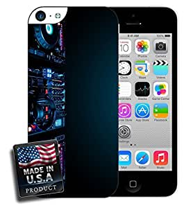 DJ Spinning Night Club Party Glowing Photography iPhone 5c Hard Case by lolosakes