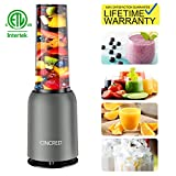 Updated 2019 Version Professional Personal Countertop Blender for Milkshake, Frozen Fruit Vegetables Drinks, Smoothie, Ice, Small Mini Portable Single Food Bullet Blenders Processor Shake Mixer Maker with Cup for Home Kitchen