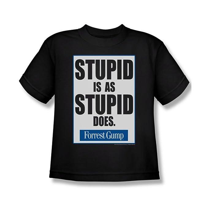 Forrest Gump - Juventud Stupid es camiseta En Negro, Small, Black: Amazon.es: Ropa y accesorios