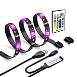 under cabinet hdtv - LED tv backlight 6.56ft for 40-60in TV,WENICE USB LED strip light Kit 78inch/2m with Remote - 16 Color 5050 Leds Bias Lighting for HDTV