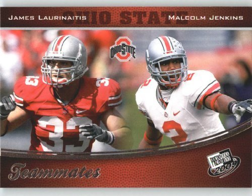 2009 Press Pass Football Card #99 Malcolm Jenkins - James Laurinaitis - TEAMMATES - Ohio St. - NFL Trading Card ()
