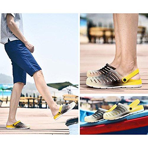 Eastlion Farben Steigung Paar Gelee Sandalen Sommer Strand Garten Schuhe Männlich Farbe 1