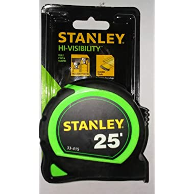 Stanley 33-415 25-ft x 1-in Hi-Vis Green Measuring Tape with Tylon Blade Coating