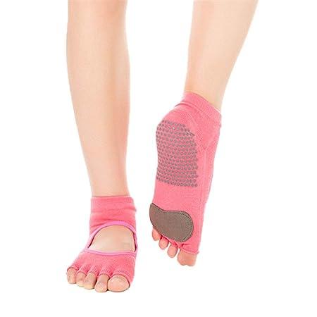 Wenquan,3 pares de calcetines de yoga antideslizantes ...