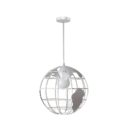 4bb83d3cde3 LgoodL Industrial Earth Shape Globe Map Pendant Light Edison Ceiling Lamp  Vintage Style Wrought Iron Chandelier