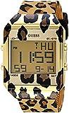 GUESS Women's Digital Silicone Watch, Color Leopard Print (Model: U1027L1)