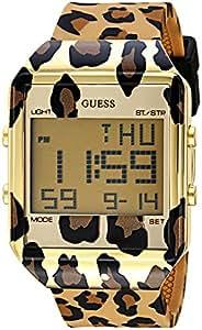 GUESS Women's Digital Silicone Watch, Color: Leopard Print (Model: U1027L1)