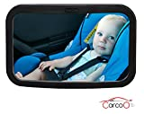 Baby Car Mirror by CarCoo - baby back seat mirror rear facing, best car seat convex mirror for baby view