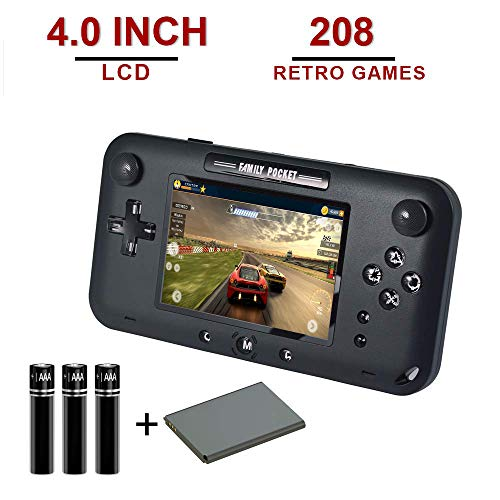 ASPIRING Handheld Game Console,Video Gaming Console for TV Built in 208 Classic Games 4.0 Inch LCD Screen 8 Bit Video Game for Kids and Adults