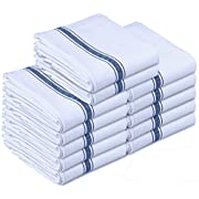 Amazon Lightning Deal 73% claimed: Utopia Towels 12 Premium Cotton Kitchen Dish Towels 24 oz Side Stripe