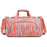 Multifunction Mummy Bag Baby Nappy Changing Bag, Convertible Small Gym Bag Mixed Striped Travel Bag