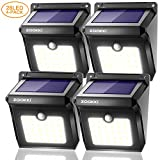 Tools & Hardware : ZOOKKI Solar Lights Outdoor 28 LED, Super Bright Motion Sensor Wall Lights Outside Solar Powered Security Lights Wireless Waterproof Lighting for Patio Yard Deck Stairway Driveway 4 Pack