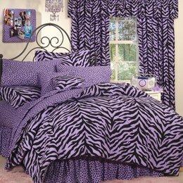 Pink Zebra + Leopard - Complete Bedding Set - Full by Karin Maki ()