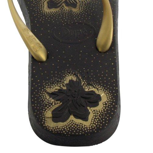Dupé Top Gel in braun-gold, schwarz-silber, weiss-silber oder weiss-gold, Dupe Zehentrenner, Gummi, Brasilien SALE! Braun-Gold