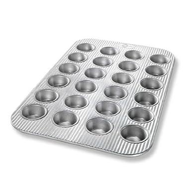 USA Pan Bakeware Aluminized Steel Mini Muffin Pan, 24 Cup