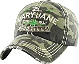 KBVT-715 CAM Marijuana Leaf Collection Dad Hat Baseball Cap Polo Style Adjustable
