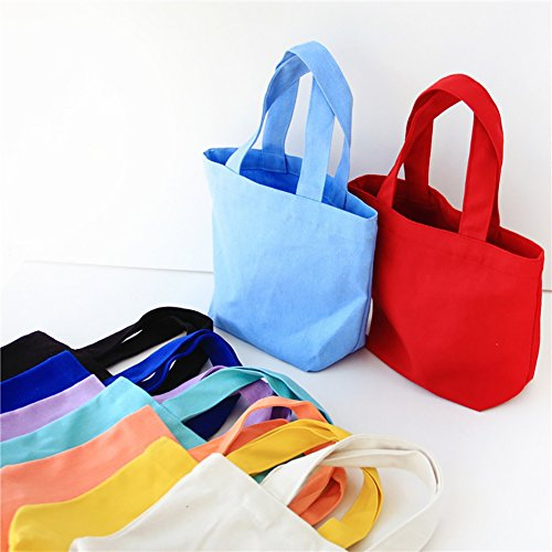 Clutch Pink Portable Blue Bag Canvas Women Light Cosmetics up Handbag Solid SWIDUUK Lunch Make Pouches Storage Color TqEzZwa