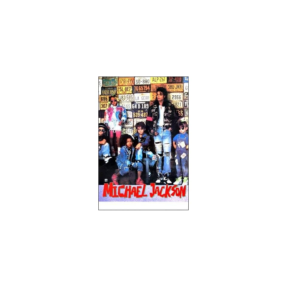 Michael Jackson kids & license plates POSTER 21 x 31 inches (poster sent from USA in PVC pipe)