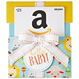 Amazon.ca $25 Gift Card in a Hello Baby Reveal (Classic White Card Design)