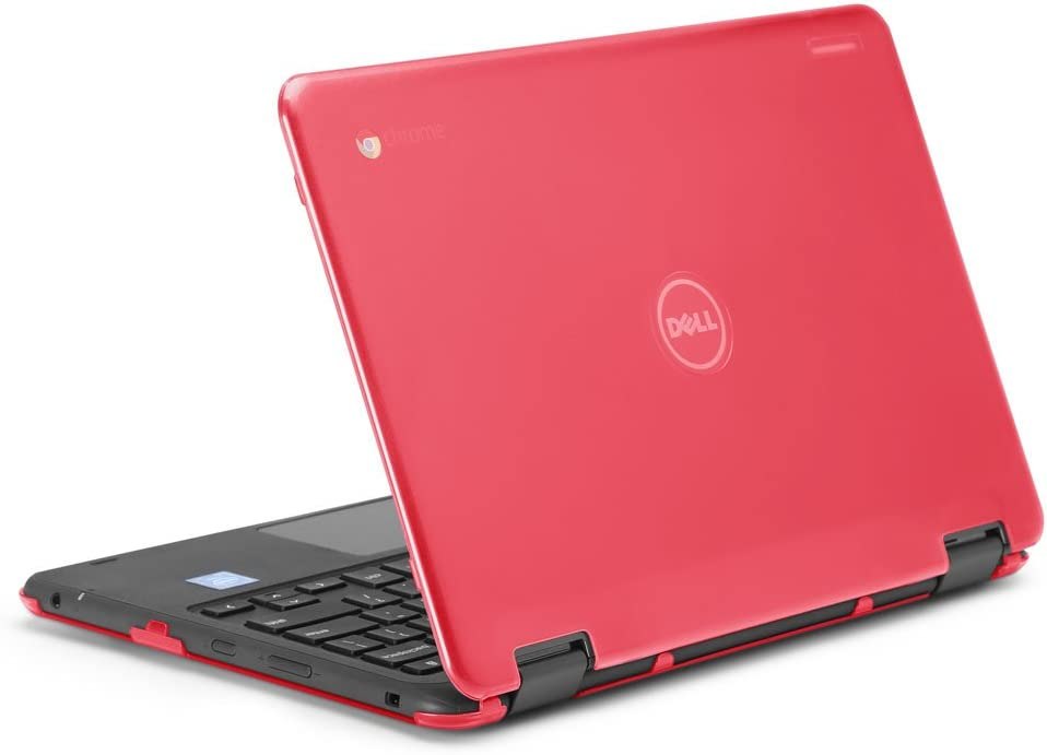 """mCover iPearl Hard Shell Case for 2017 11.6"""" Dell Chromebook 11 3189 Series 2-in-1 Laptop (NOT Compatible with 210-ACDU / 3120/3180 Series) - 3189 Red"""