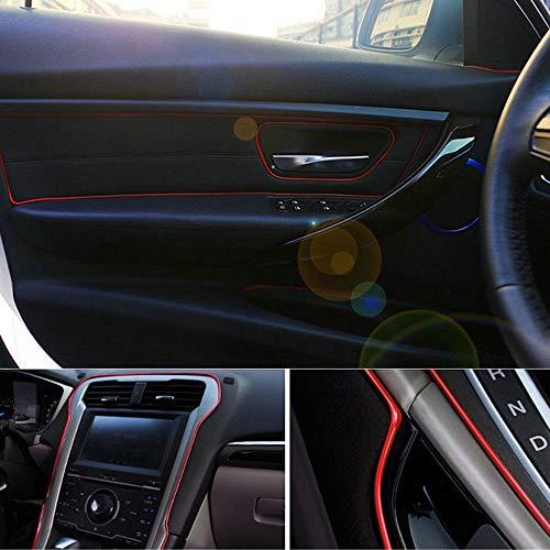 FidgetKute 5M Point Molding Red Edge Gap Line Garnish Fit Car Interior Accessory Universal