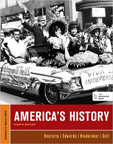 Americas history volume ii james a henretta eric hinderaker americas history volume ii eighth edition fandeluxe Gallery