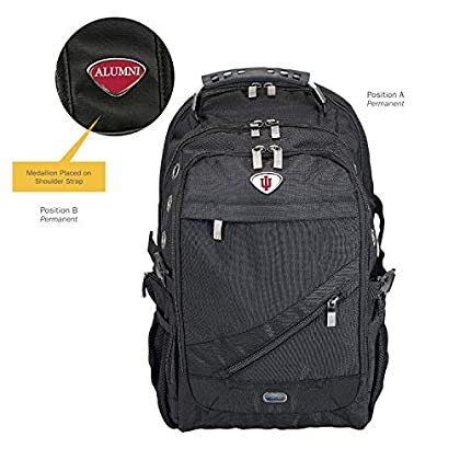 Image of AdSpec NCAA Indiana Hoosiers Collegiate Executive BackpackCollegiate Executive Backpack, Black, One Size Backpacks