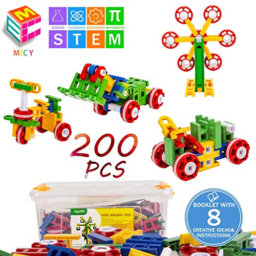 STEM Learning Toys | Creative Construction Engineering | Original 200 Piece Educational Building Blocks Set for Boys and Girls Ages 3 4 5 6 7 8 Year Old | Creative Game Kit | Best Toy Gift for Kids