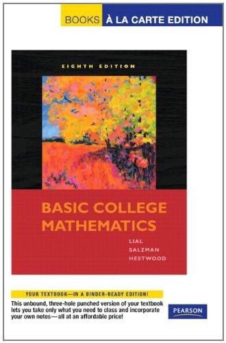 Basic College Math: Books a La Carte Edition