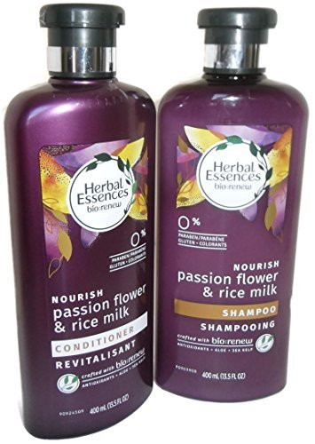 Herbal Essences Nourish Passion Flower & Rice Milk Shampoo And Conditioner Set For Hair ()