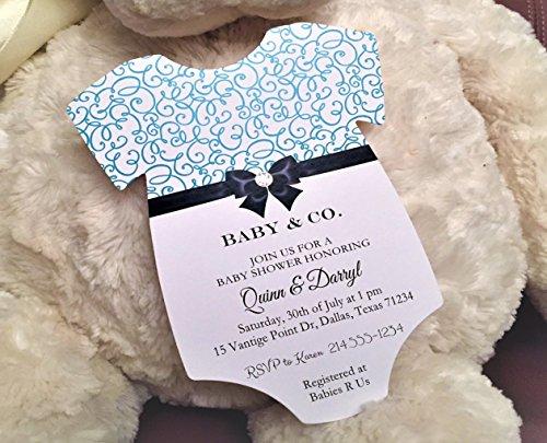 Set of 10 Tiffany Blue Elegant Baby Show - Elegant Baby Shower Invitations Shopping Results