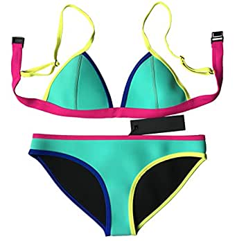Amazon.com: MUXILOVE Women Neoprene Bikini In Bright Color