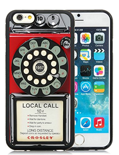 Minffc Unique With 1950S Classic Red Pay Phone Protective Case Cover For Iphone 6 6S 4.7 Inch