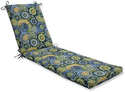 Pillow Perfect Outdoor/Indoor Omnia Lagoon Chaise Lounge Cushion 80x23x3,Blue