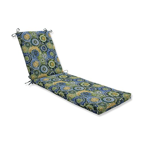 Pillow Perfect Outdoor/Indoor Omnia Lagoon Chaise Lounge Cushion 80x23x3