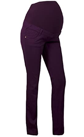 11d2ed68ebb68 WOMENS OVER BUMP UNDER BUMP MATERNITY PREGNANCY PURPLE TROUSERS/JEANS SIZE  8-22 (10, Purple): Amazon.co.uk: Clothing