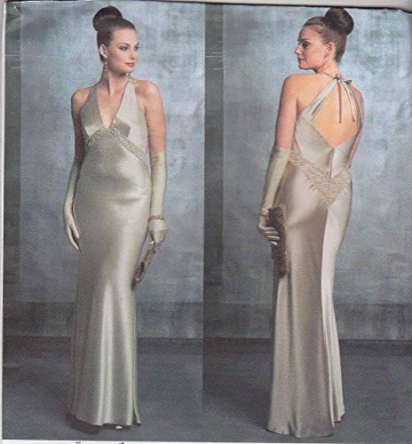 vogue-sewing-pattern-2840-misses-size-6-8-10-bellville-sassoon-evening-gown-formal-halter-dress